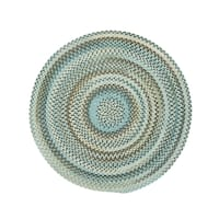 Cane Round Made to Order Braided Rug Tan/Mixed