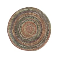 Cane Round Made to Order Braided Rug Multi - 7'6