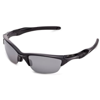 Oakley Half Jacket 2.0 OO9153-04 Men's Polished Black Frame Black Iridium Polarized Lens Sunglasses