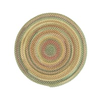 Pyle Round Made to Order Braided Rug Amber (7' 6)