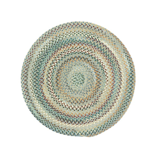 Pyle Round Made to Order Braided Rug Light Blue (7' 6)