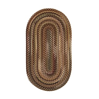 Eze Oval Made to Order Braided Rug Beige (20 x 30)