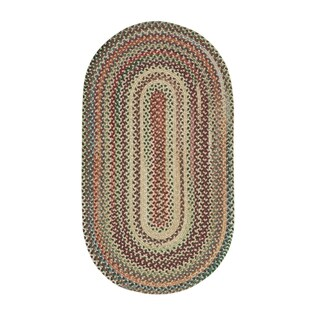 Pyle Oval Made to Order Braided Rug Amber - 20 x 30