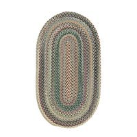 Pyle Oval Made to Order Braided Rug Light Blue