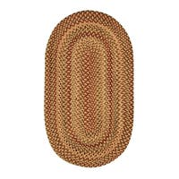 Cambridge Oval Made to Order Braided Rug Gold/Mixed (3' x 5')