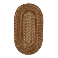 Cambridge Oval Made to Order Braided Rug Sage/Red (3' x 5')