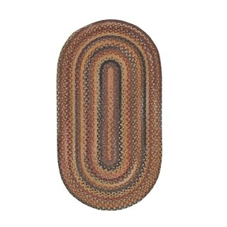 Cane Oval Made to Order Braided Rug Multi (3' x 5')