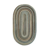 Cane Oval Made to Order Braided Rug Tan/Mixed - 4' x 6'