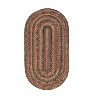 Cane Oval Made to Order Braided Rug Multi (4' x 6')