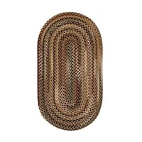 Eze Oval Made to Order Braided Rug Beige