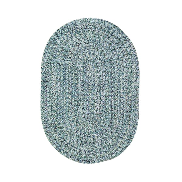 Malibu Oval Made to Order Braided Rug Blue - 7' x 9'