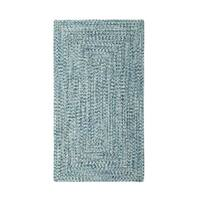 Malibu Concentric Rectangle Made to Order Braided Rug Blue