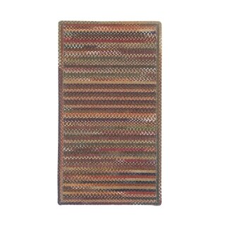 Cane Cross Sewn Rectangle Made to Order Braided Rug Multi (2' x 3')