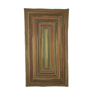 Pyle Concentric Rectangle Made to Order Braided Rug Amber (2' x 3')