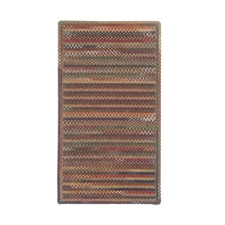 Cane Cross Sewn Rectangle Made to Order Braided Rug Multi (3' x 3')