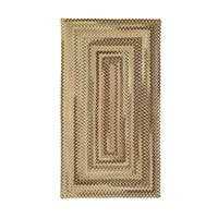 Cambridge Concentric Rectangle Made to Order Braided Rug Beige - 3' x 5'