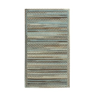 Cane Cross Sewn Rectangle Made to Order Braided Rug Tan/Mixed (5' x 8')