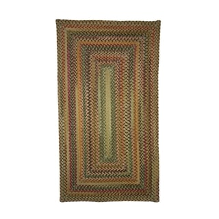 Pyle Concentric Rectangle Made to Order Braided Rug Amber (5' 6 x 5' 6)