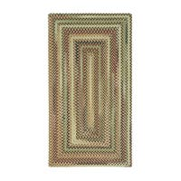 Eze Concentric Rectangle Made to Order Braided Rug Beige (7' x 9')