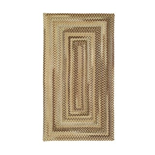 Cambridge Concentric Rectangle Made to Order Braided Rug Beige (7' 6 x 7' 6)