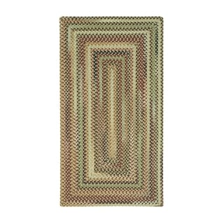 Eze Concentric Rectangle Made to Order Braided Rug Beige (7' 6 x 7' 6)