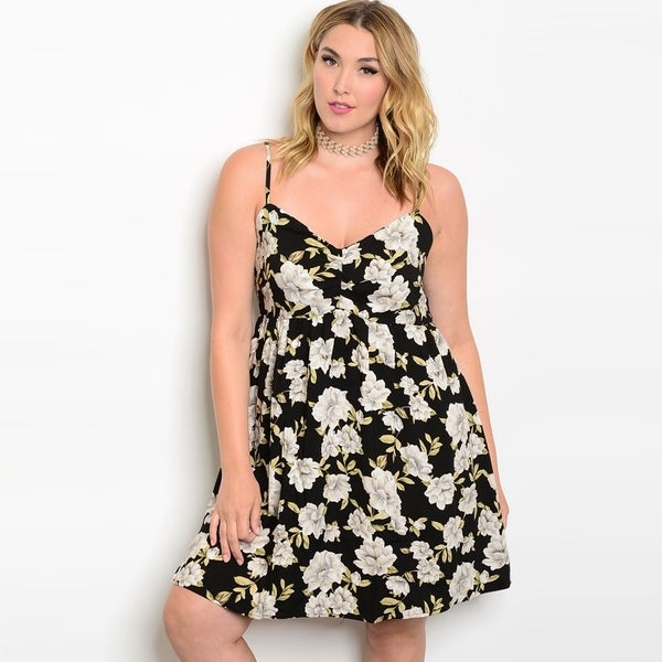 Shop Shop The Trends Womens Plus Size Spaghetti Strap Babydoll