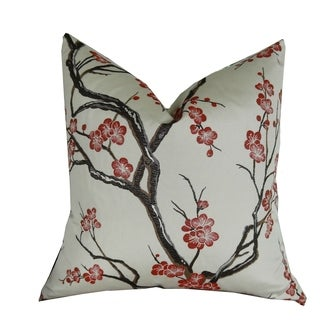 Plutus Japanese Blossom Handmade Throw Pillow