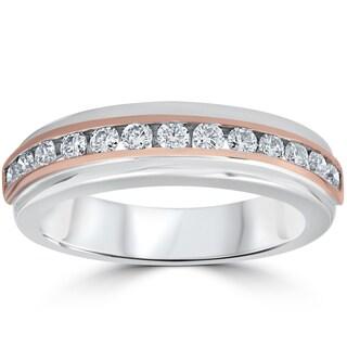 14K Rose & White Gold 1/2 ct TDW Channel Set Diamond Ring