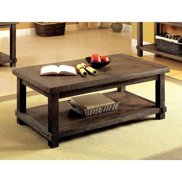 shop furniture of america mena rustic dark walnut hidden storage coffee table on sale free. Black Bedroom Furniture Sets. Home Design Ideas