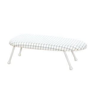 StorageManiac Tabletop Ironing Board with Folding Legs, Folding Ironing Board with Cotton Cover - White