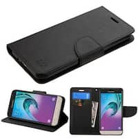 Insten Black Synthetic Leather Case Cover with Stand/ Wallet Flap Pouch For Samsung Galaxy Amp Prime/ J3(2016)