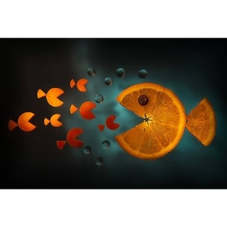 Orange fish Gallery Wrapped Print on Canvas