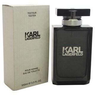 Karl Lagerfeld Men's 3.3-ounce Eau de Toilette Spray (Tester)