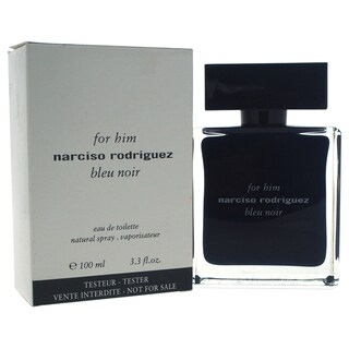 Narciso Rodriguez Bleu Noir Men's 3.3-ounce Eau de Toilette Spray (Tester)