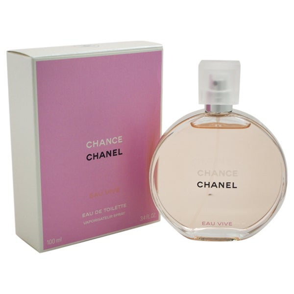 Shop Chanel Chance Eau Vive Women's 3.4-ounce Eau de Toilette Spray - Free Shipping Today ...