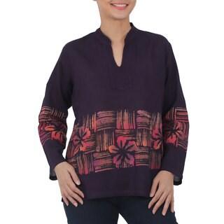 Handmade Cotton 'Island Evenings' Batik Tunic (Thailand) (5 options available)