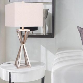 Catalina LIghting Ezra Antique Pewter Metal Table Lamp