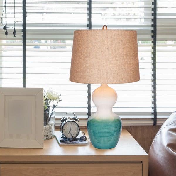 Catalina Hayden Ombre Ceramic Table Lamp