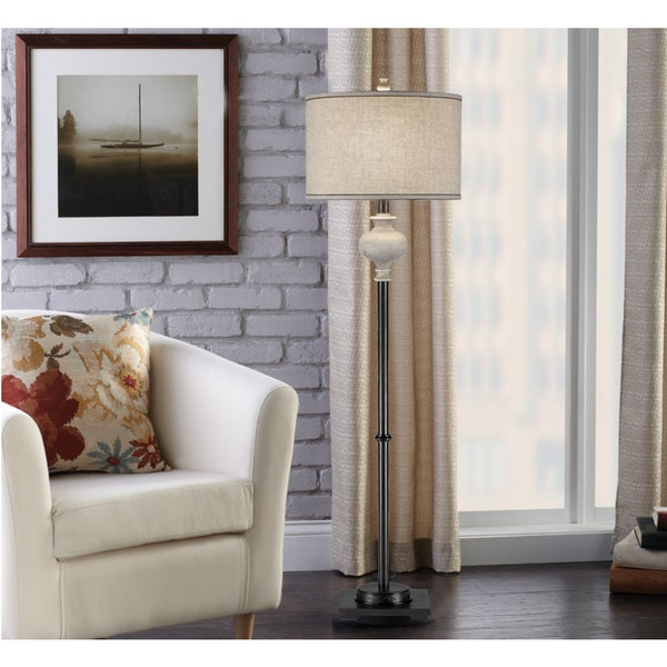 Catalina Sabina 20119-000 White Washed Weathered Floor Lamp