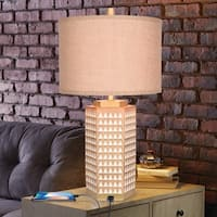Catalina Sawyer Faux Wood Table Lamp