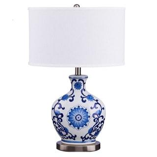 Catalina Lighting Juno Coastal Blue Ceramic Table Lamp