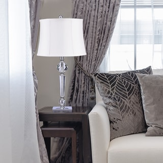 Catalina Camille Clear Crystal Glass Faceted Table Lamp