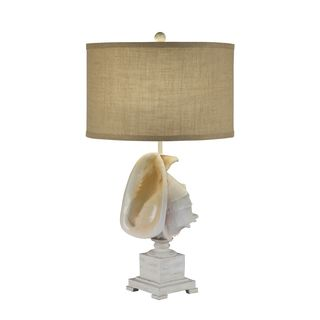 Catalina Resin Conch Shell Table Lamp