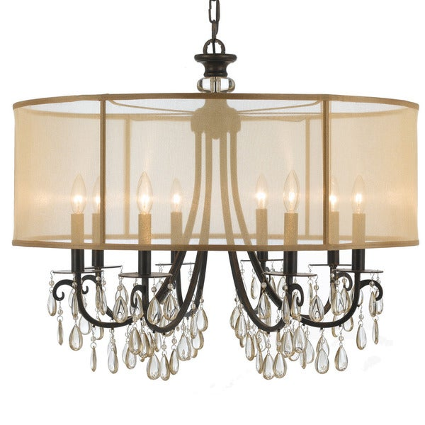 Crystorama Hampton Collection 8 Light English Bronze Chandelier