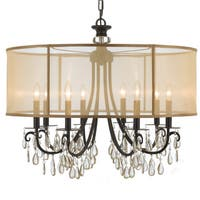 Crystorama Hampton Collection 8-light English Bronze Chandelier