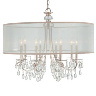 Crystorama Hampton Collection 8-light Polished Chrome Chandelier