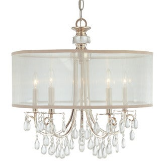 Crystorama Hampton Collection 5-light Polished Chrome Chandelier