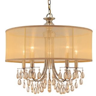 Crystorama Hampton Collection 5-light Antique Brass Chandelier