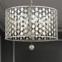Crystorama Layla Collection 6-light Antique Silver Chandelier