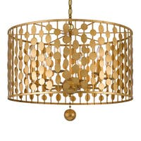 Crystorama Layla Collection 6-light Antique Gold Chandelier - N/A